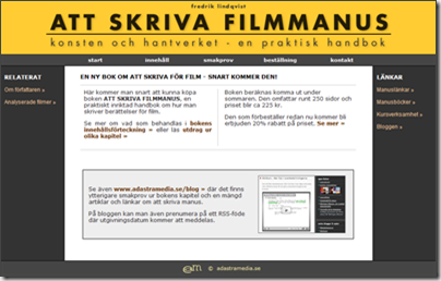 Boken: ATT SKRIVA FILMMANUS